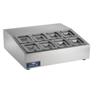 Arctic Air 8 pan compact counter prep unit