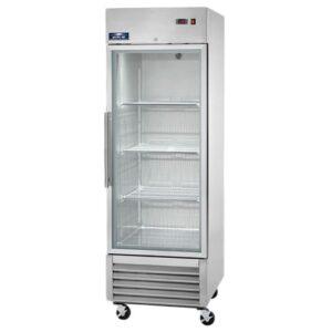 MODEL AGR23 - 1 glass door reach in refrigerator