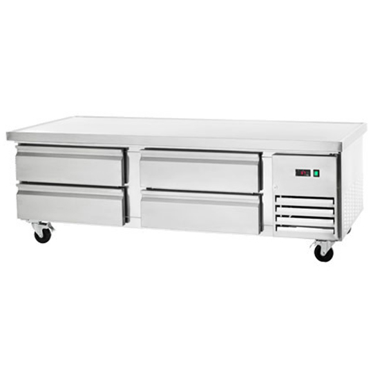 """REFRIGERATED CHEF BASE - FOUR DRAWER 72"""""""